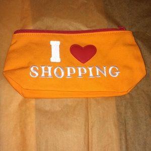 "Small ""I ❤️ Shopping"" Makeup Bag"